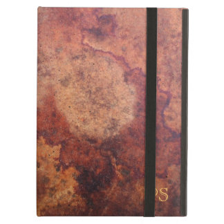 Manly Vintage Leather Monogram iPad Air Case