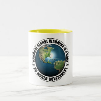 Manmade Global Warming Hoax Two-Tone Mug
