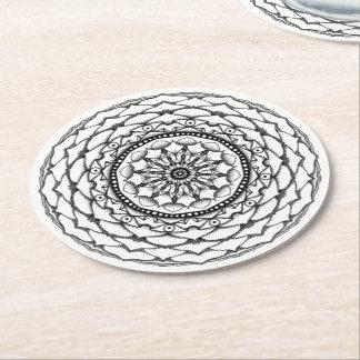 Manna Mandala Round Paper Coaster