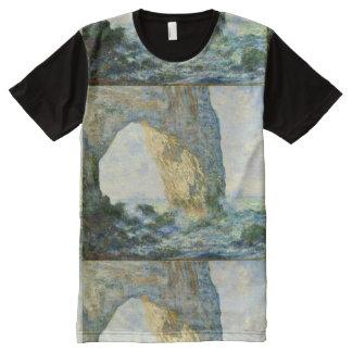 Manneporte, Rock Arch Étretat (Normandy) - Monet All-Over Print T-Shirt