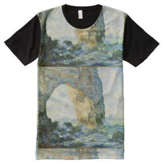 Manneporte, Rock Arch Étretat (Normandy) - Monet All-Over Print T-Shirt