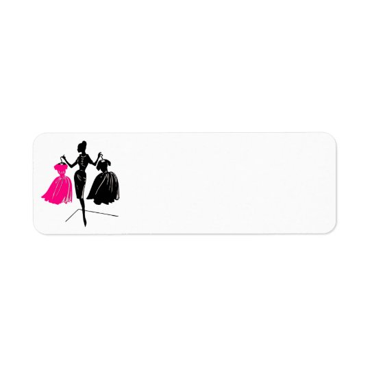 mannequin-312526 POSH BEAUTY FASHION FASHIONISTA D Return Address Label