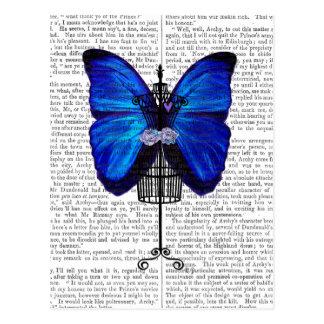 Mannequin Blue Butterfly Postcard