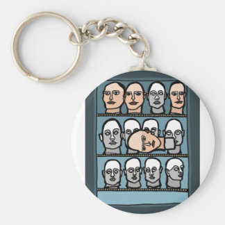 Mannequin Heads Key Ring