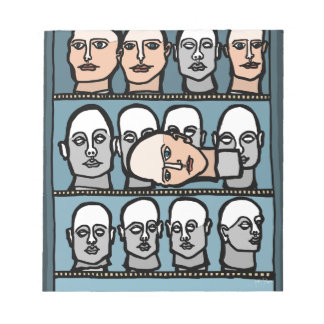 Mannequin Heads Notepad