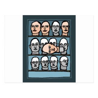 Mannequin Heads Postcard