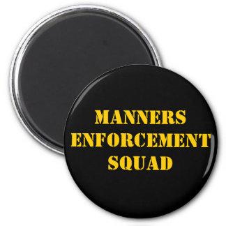 Manners Enforcement Squad 6 Cm Round Magnet