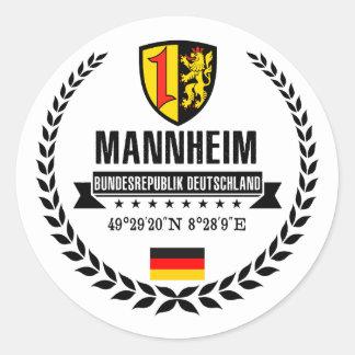 Mannheim Classic Round Sticker