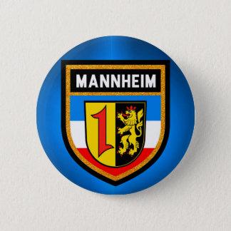 Mannheim Flag 6 Cm Round Badge