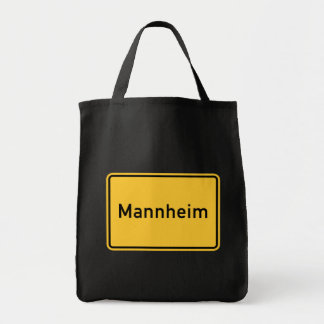 Mannheim, Germany Road Sign Grocery Tote Bag