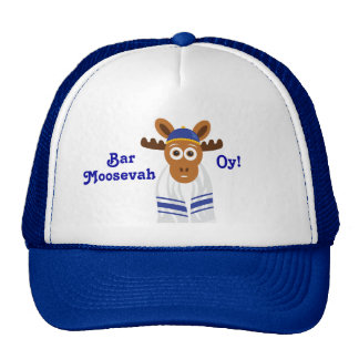 Manny The Moose Head_Bar Moosevah Oy! Trucker Hats