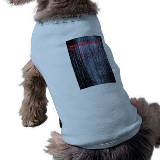 Mannymanster scary woods  Doggie Ribbed Tank Top Sleeveless Dog Shirt