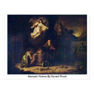 Manoah Victims By Govert Flinck Postcard