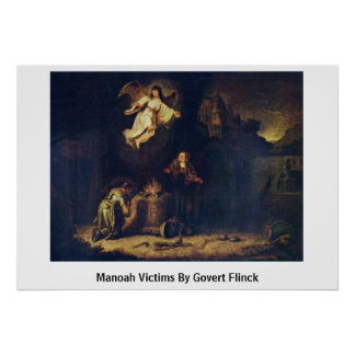 Manoah Victims By Govert Flinck Poster