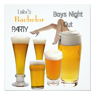 Mans Bachelor Party Beer Boys Night Legs Announcement
