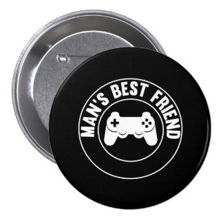 Man's Best Friend 7.5 Cm Round Badge