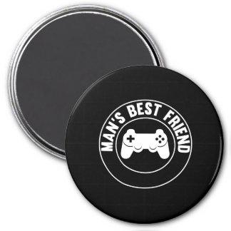 Man's Best Friend 7.5 Cm Round Magnet