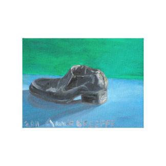 Man's Black Shoe Canvas Print