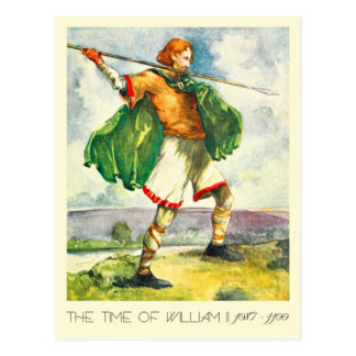 Man's Costume Of The Time Of William II Postcard
