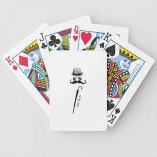 """Man's Hat Mustache Umbrella """"cool dude"""" Bicycle Playing Cards"""