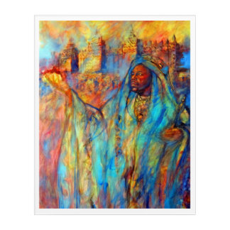 MANSA MUSA - KING OF MALI 14TH CENTURY ACRYLIC WALL ART