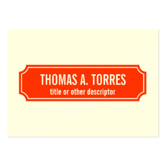 Mansard Placard Business Card Template, Tomato Red