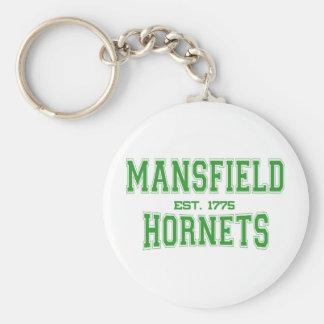 Mansfield High School Hornets Basic Round Button Key Ring