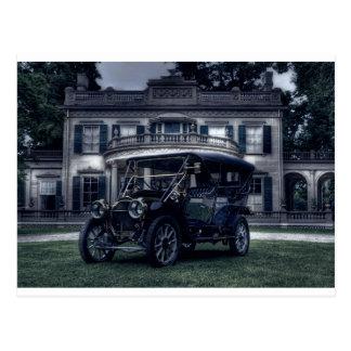 Mansion and Car Postcard