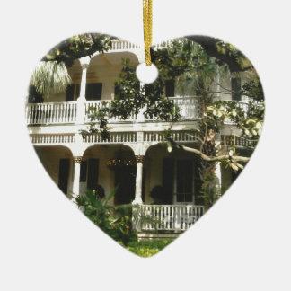 mansion in texas port arkansas ceramic ornament