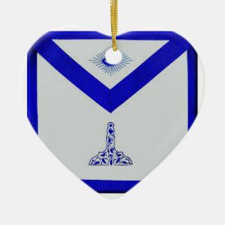 Mansonic Senior Warden Apron Ceramic Ornament