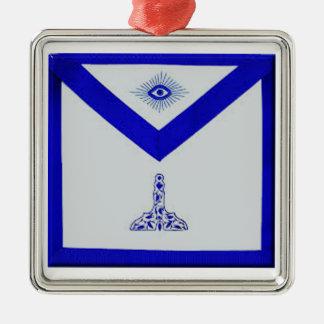 Mansonic Senior Warden Apron Metal Ornament
