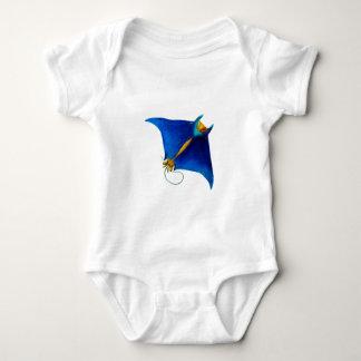 manta ray art baby bodysuit