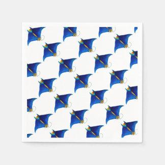 manta ray art disposable serviettes