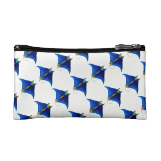 manta ray art makeup bag