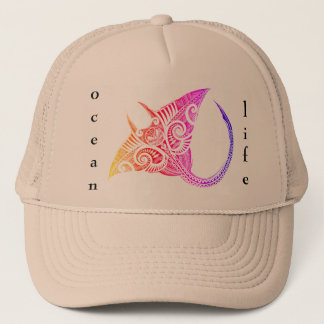 Manta Ray ocean life Trucker Hat