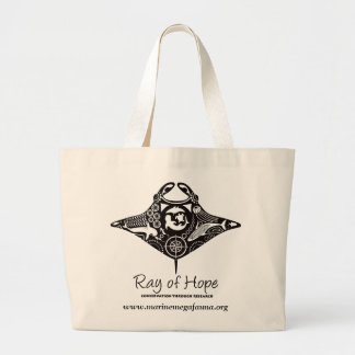 Manta Ray of Hope MMF Jumbo Tote Canvas Bag