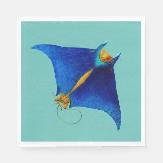 manta ray paper napkins