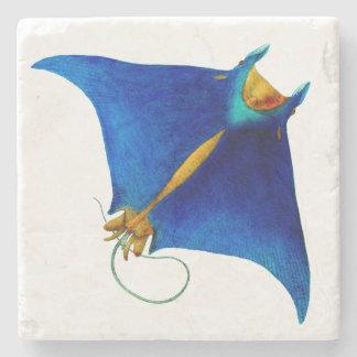 manta ray stone coaster