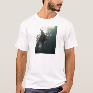 Manta ray swimming overhead T-Shirt