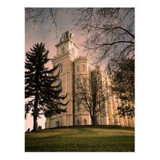 Manti Utah LDS Temple Postcard