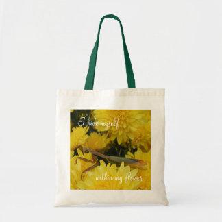 Mantis & Chrysanthemums - Budget Tote #2