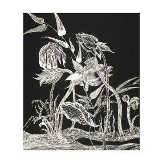 Mantis Garden canvas print