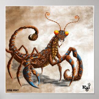 Mantis Scorpion Poster