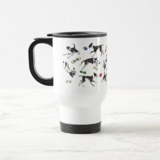 Mantle Great Dane Play Time pattern Coffee Mug
