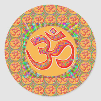 Mantra OmMantra : Perfect True Holy RobeColor Classic Round Sticker