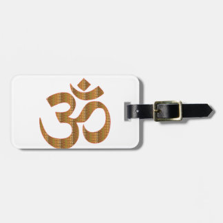 MANTRA OmMantra Yoga Meditation Chant Hinduism gif Luggage Tag