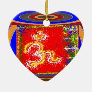 MANTRA Shakti: Passion Dedication Power Peace Ceramic Ornament