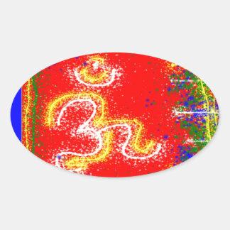 MANTRA Shakti: Passion Dedication Power Peace Oval Sticker