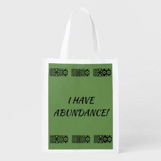 MANTRA SHOPPING BAG...ABUNDANCE REUSABLE GROCERY BAG