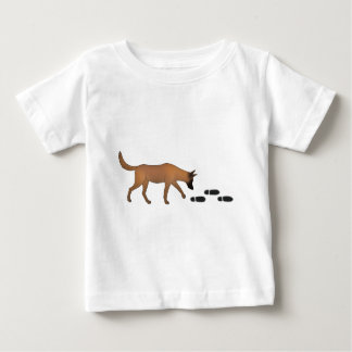Mantrailer with trace Belgian shepherd dog Baby T-Shirt